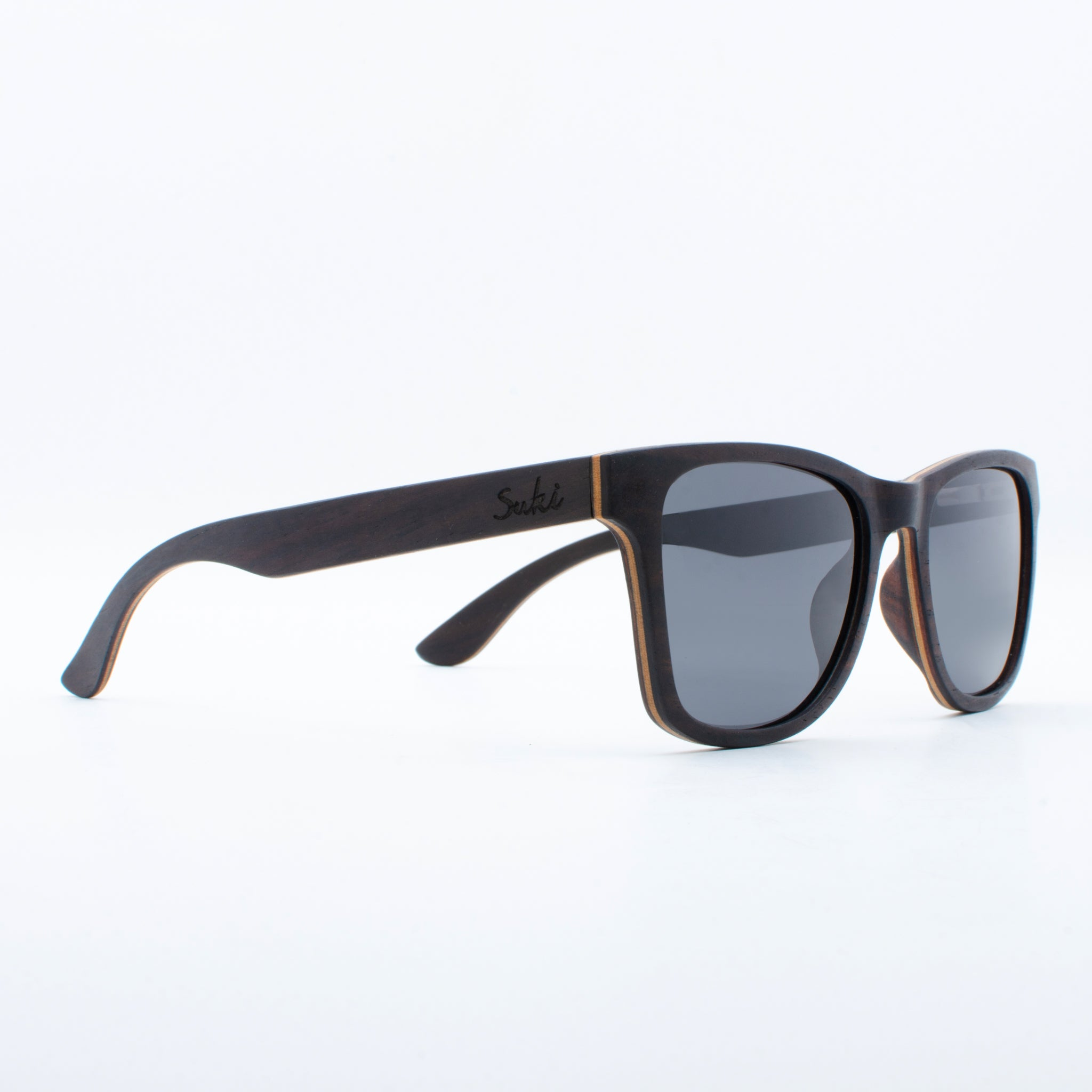 WOODEN SUNGLASSES JOGJA EBONY SUKI RIGHT