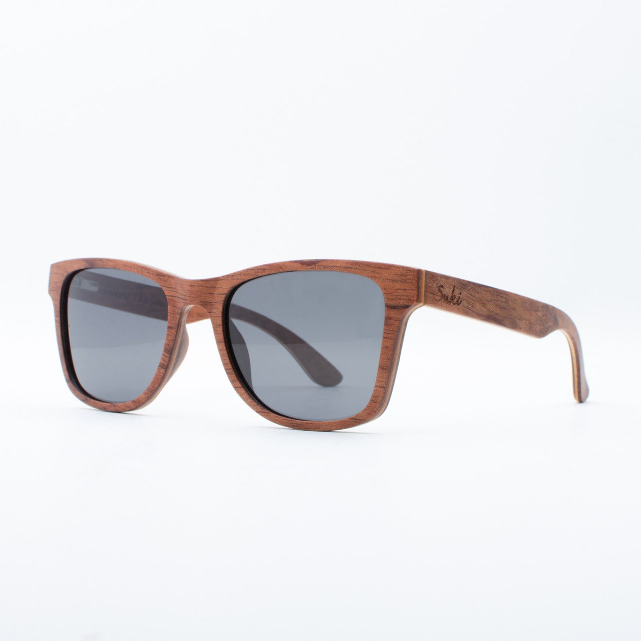 WOODEN SUNGLASSES JOGJA RED BURY SUKI LEFT