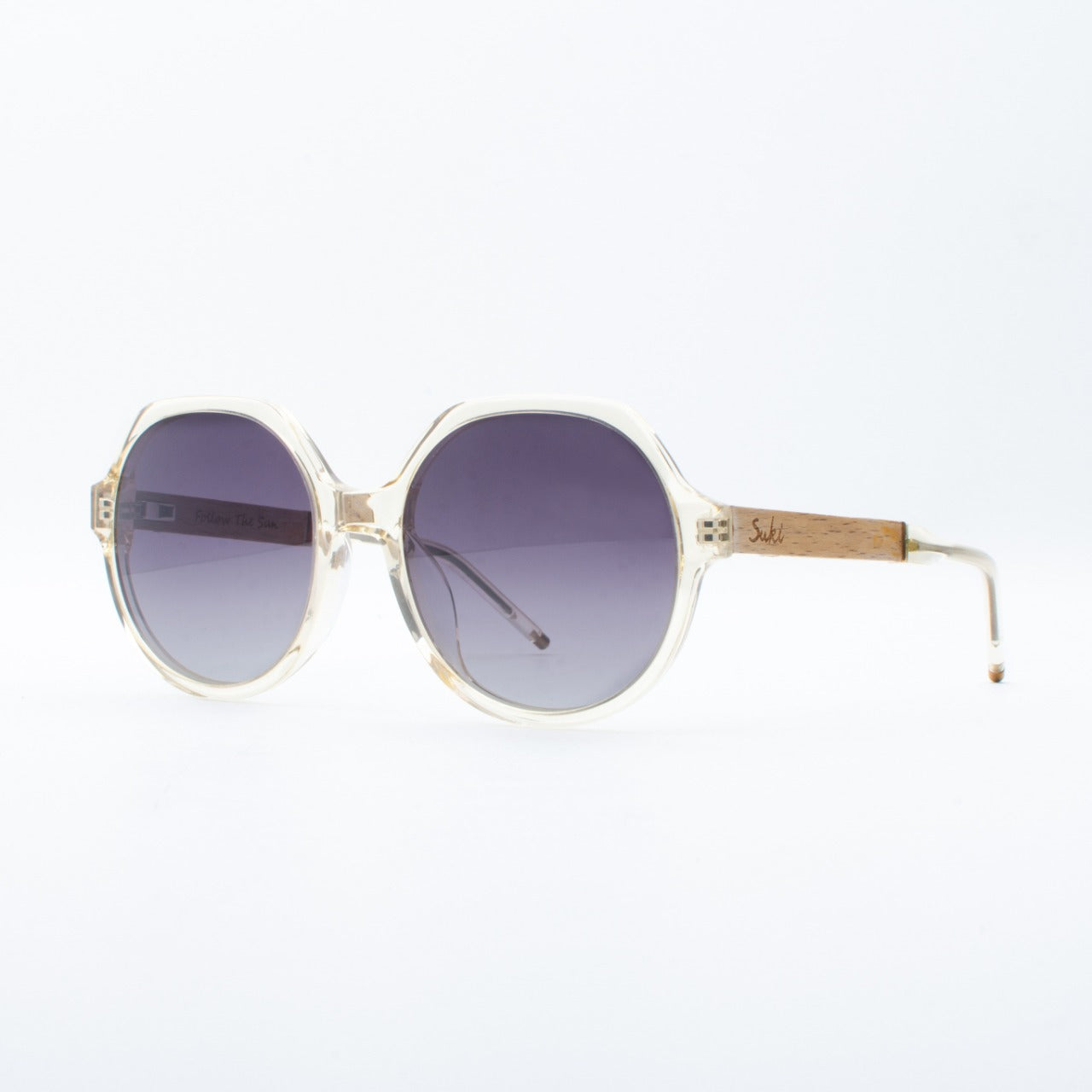WOODEN SUNGLASSES MAYA ACE TRANS SUKI