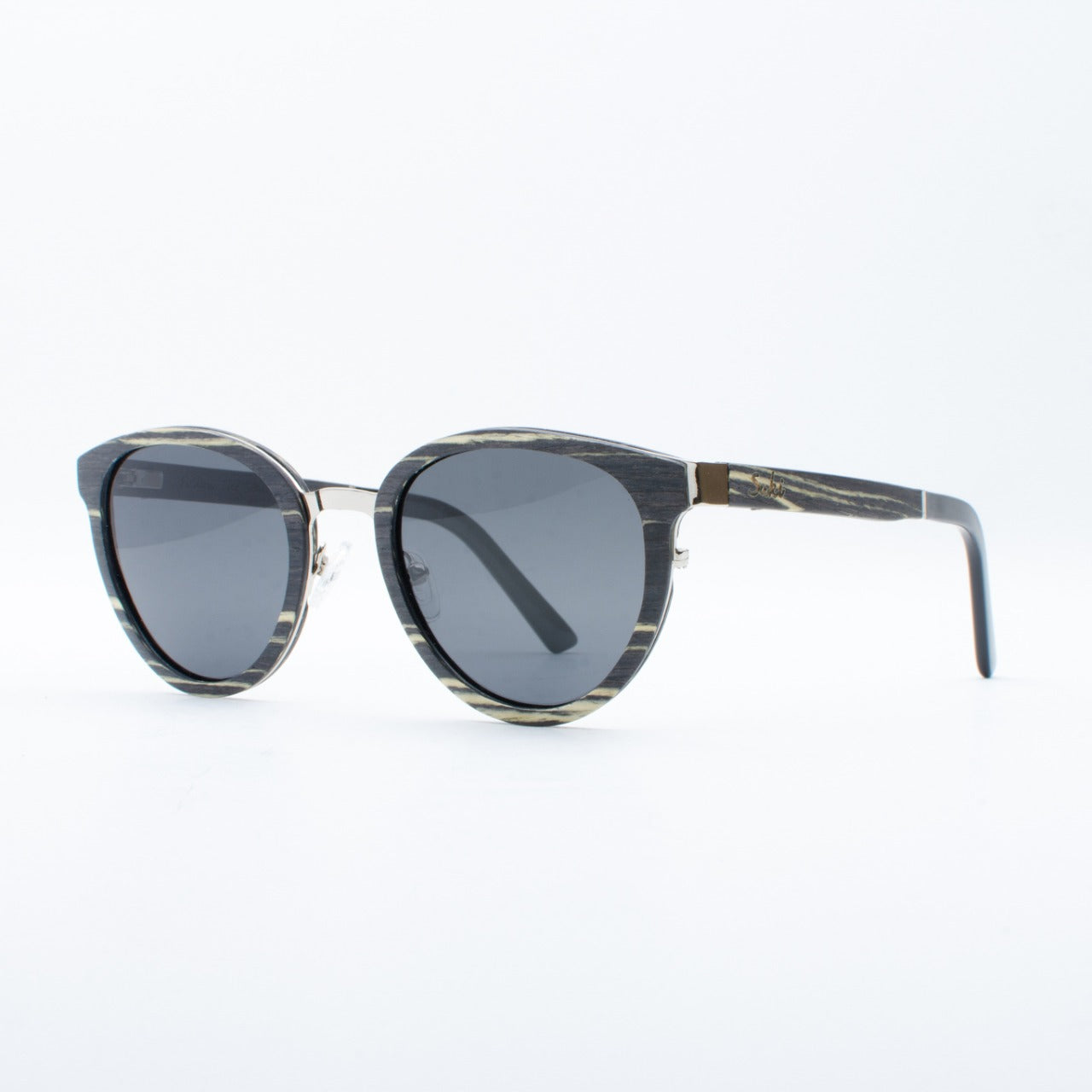 WOODEN SUNGLASSES MOROTAI EBONY WHITE SUKI
