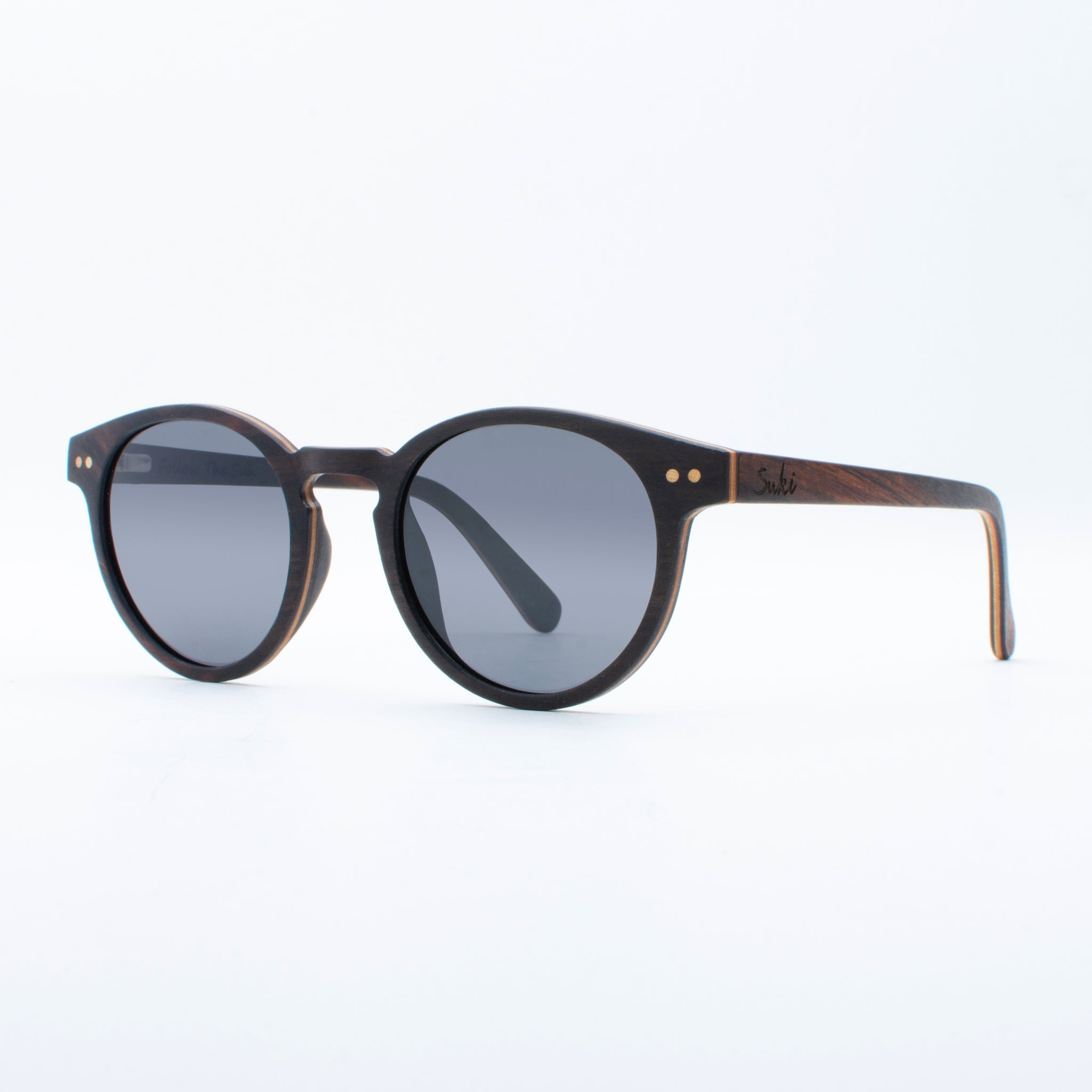 WOODEN SUNGLASSES OBI EBONY SUKI