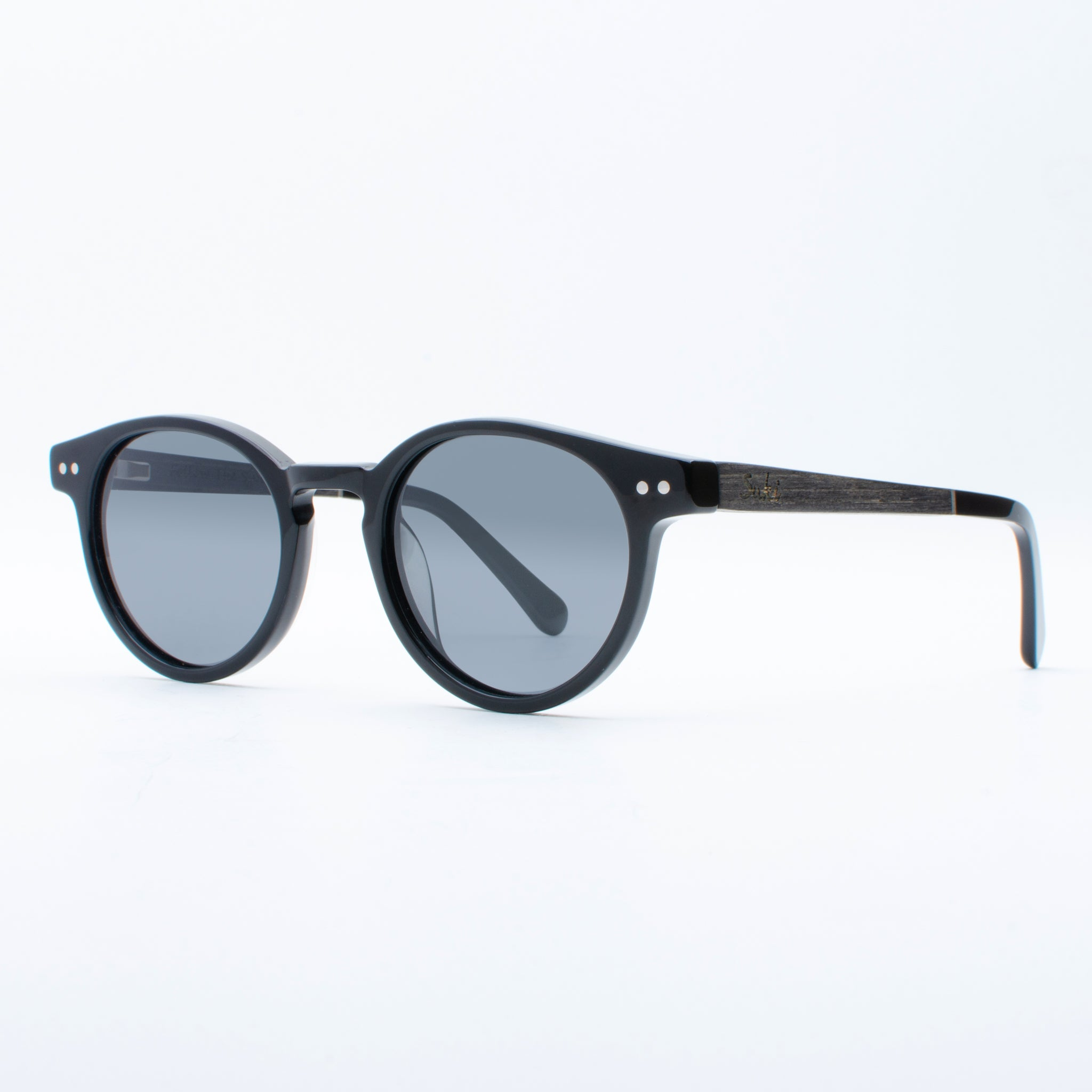 WOODEN SUNGLASSES PADMA BLACK SUKI