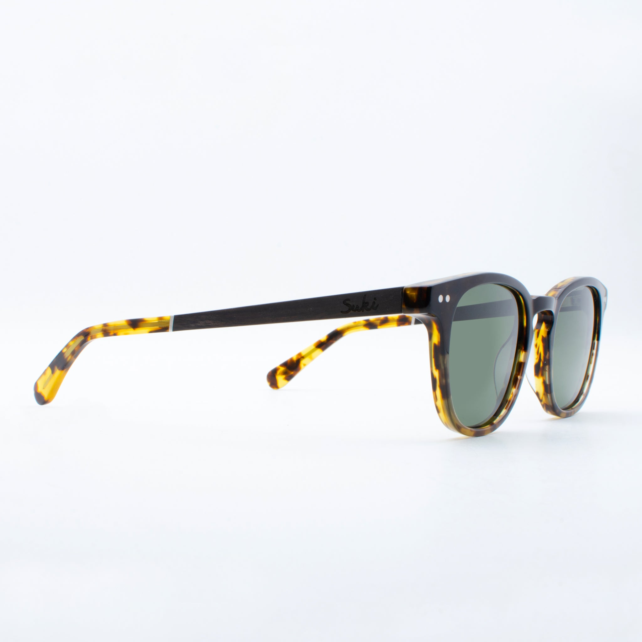 WOODEN SUNGLASSES PUTU BLACK TORTOISE SUKI