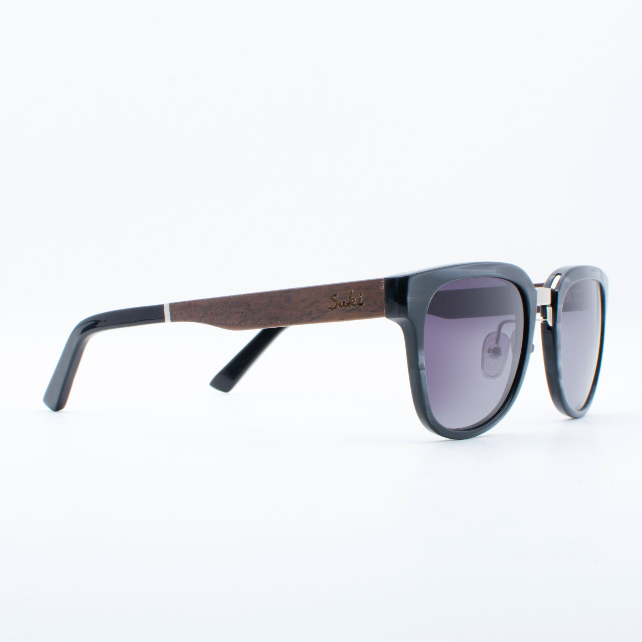 WOODEN SUNGLASSES YOGA GREY SUKI