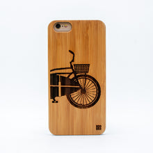 Load image into Gallery viewer, bamboo iphone 6+ case surf bike ecoego