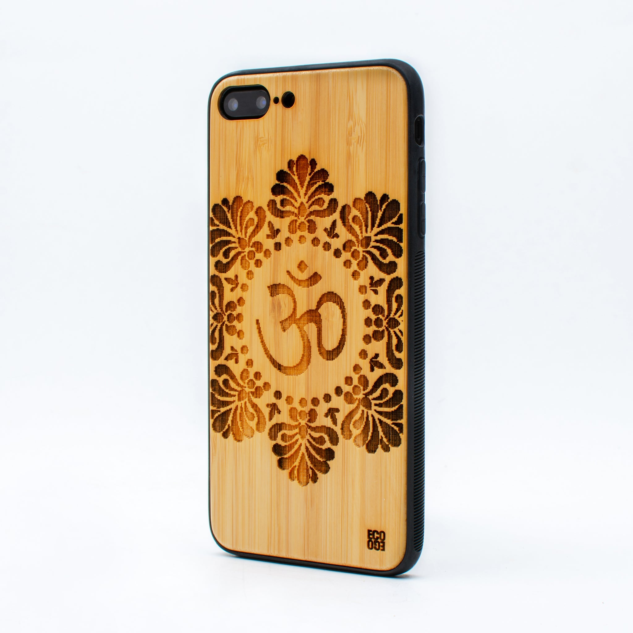 bamboo iphone 7+ case om symbol ecoego
