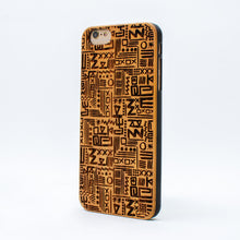 Load image into Gallery viewer, bamboo iphone 6+ case aztec ecoego