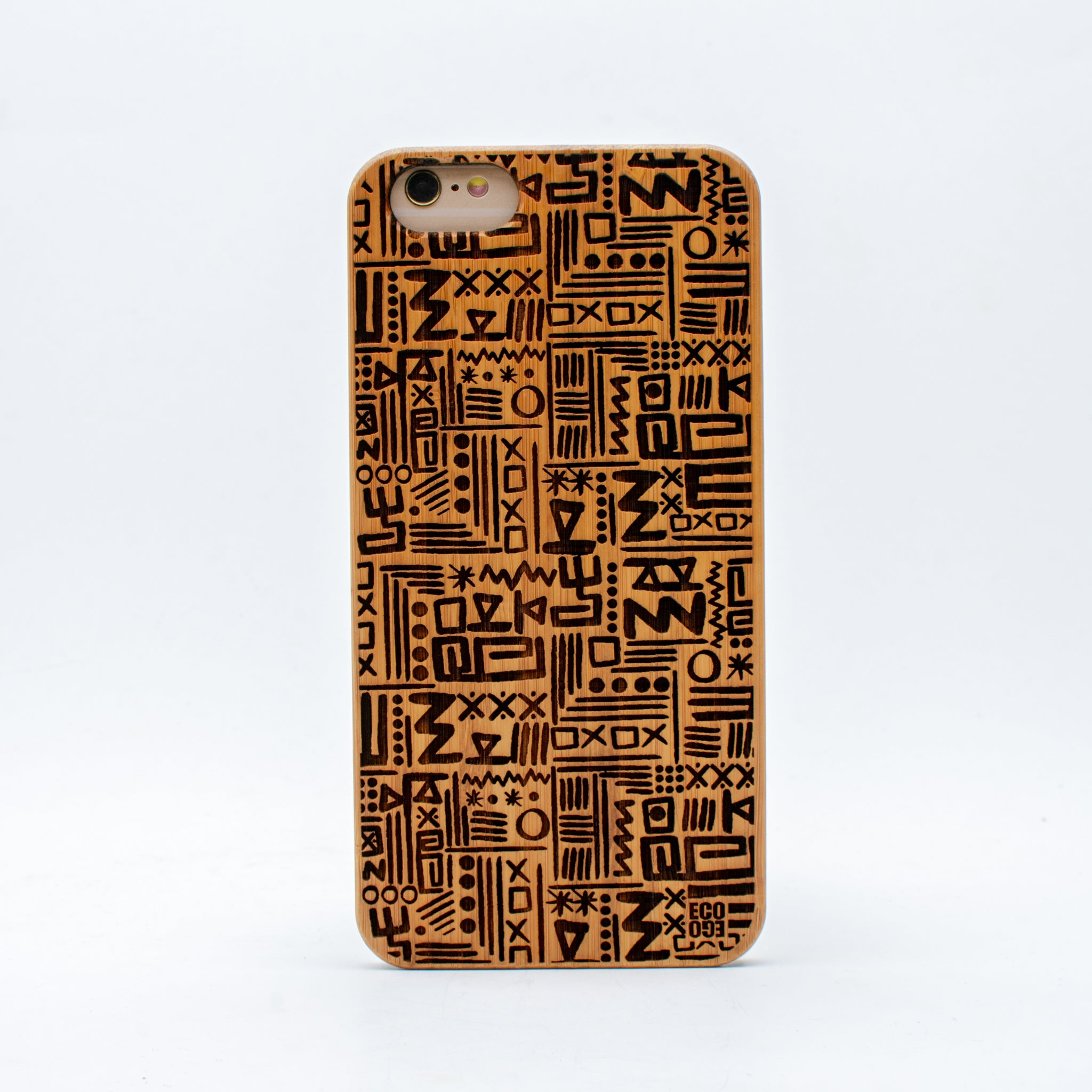 bamboo iphone 6+ case aztec ecoego