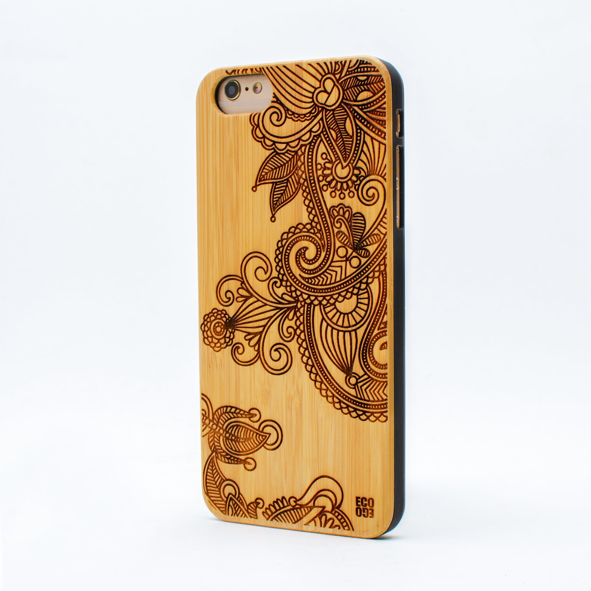 bamboo iphone 6+ case flower ecoego