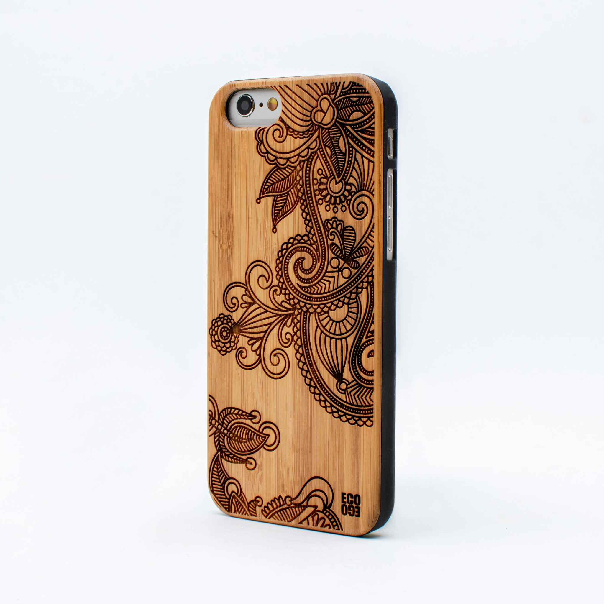 bamboo iphone 6 case flower ecoego