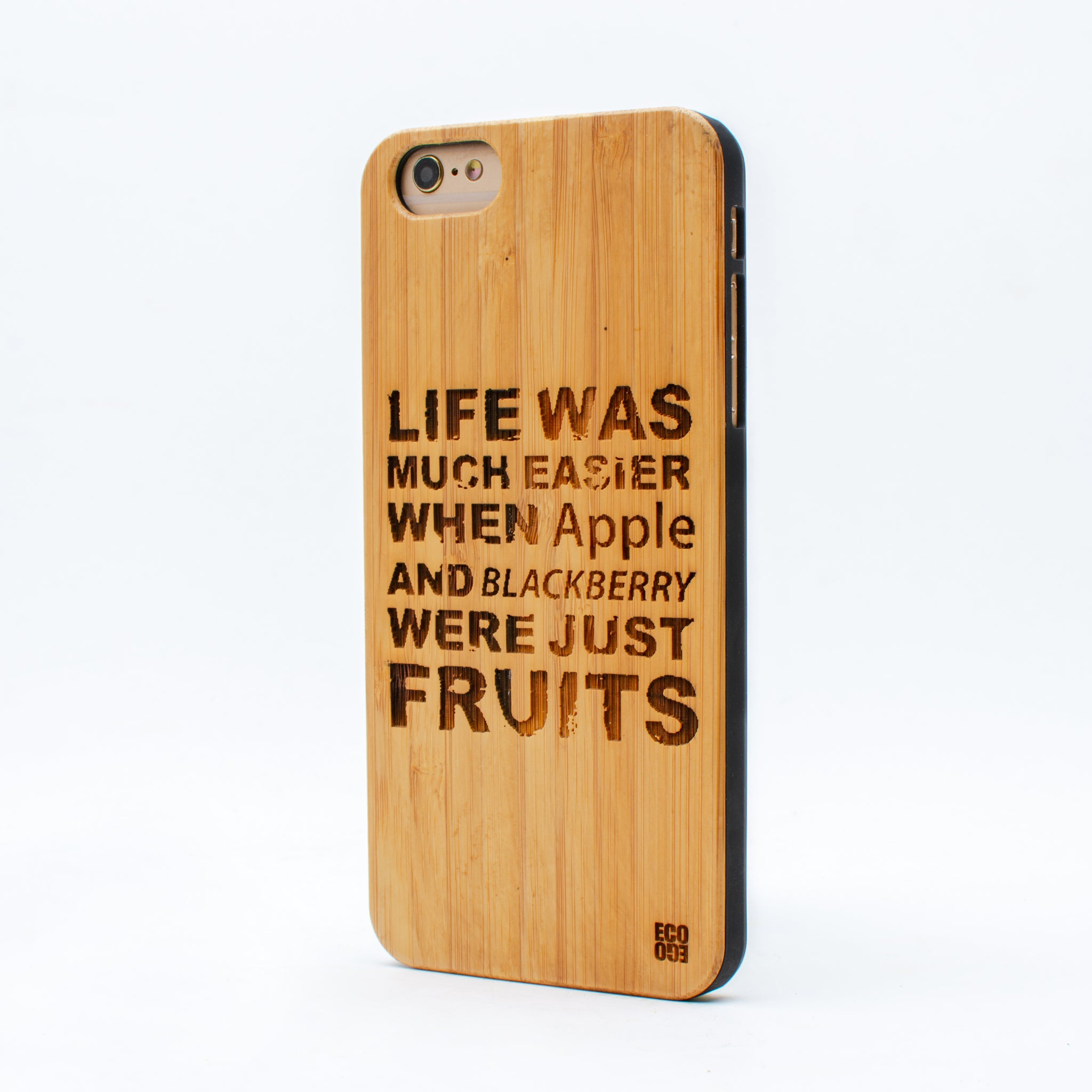 bamboo iphone 6+ case life was ecoego