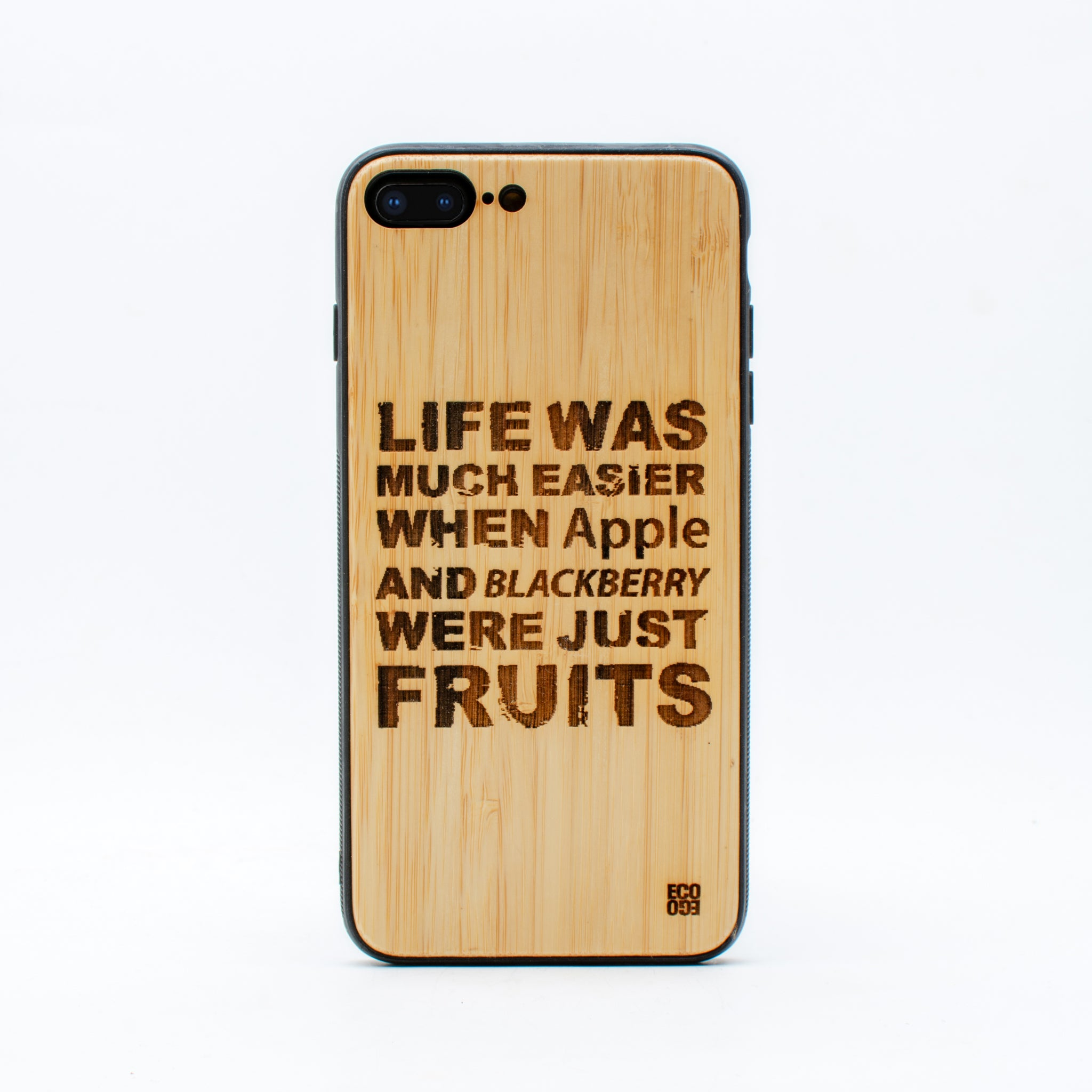 bamboo iphone 7+ case life was ecoego