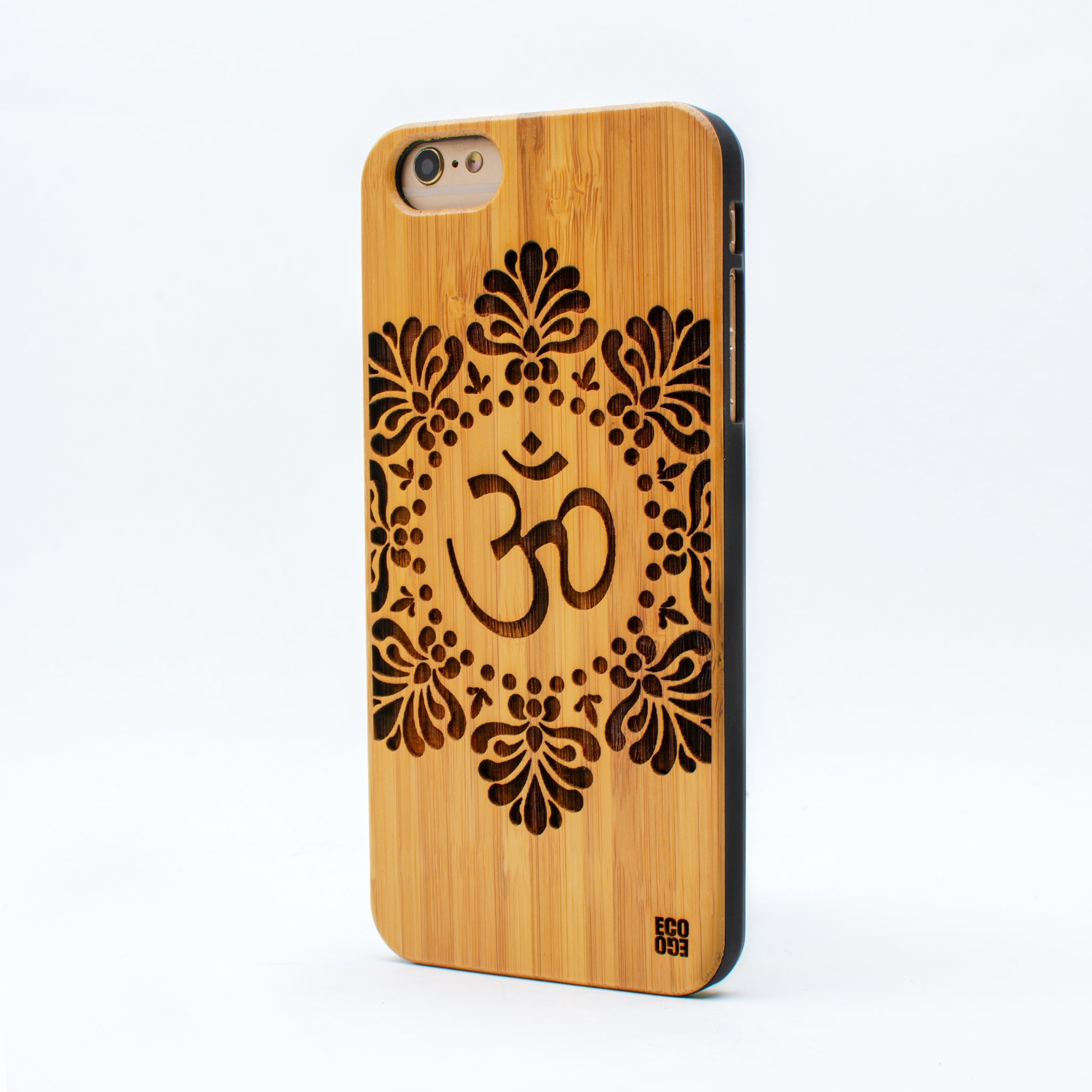 bamboo iphone 6+ case om symbol ecoego