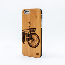 Load image into Gallery viewer, bamboo iphone 6 case surf bike ecoego