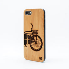 Load image into Gallery viewer, bamboo iphone 7 case surf bike ecoego