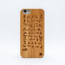 Load image into Gallery viewer, bamboo iphone 6 case yoga ecoego