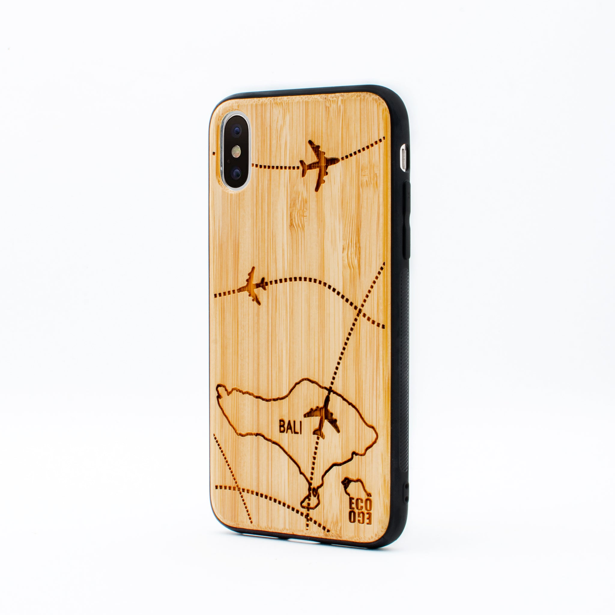 bamboo iphone x case bali map ecoego