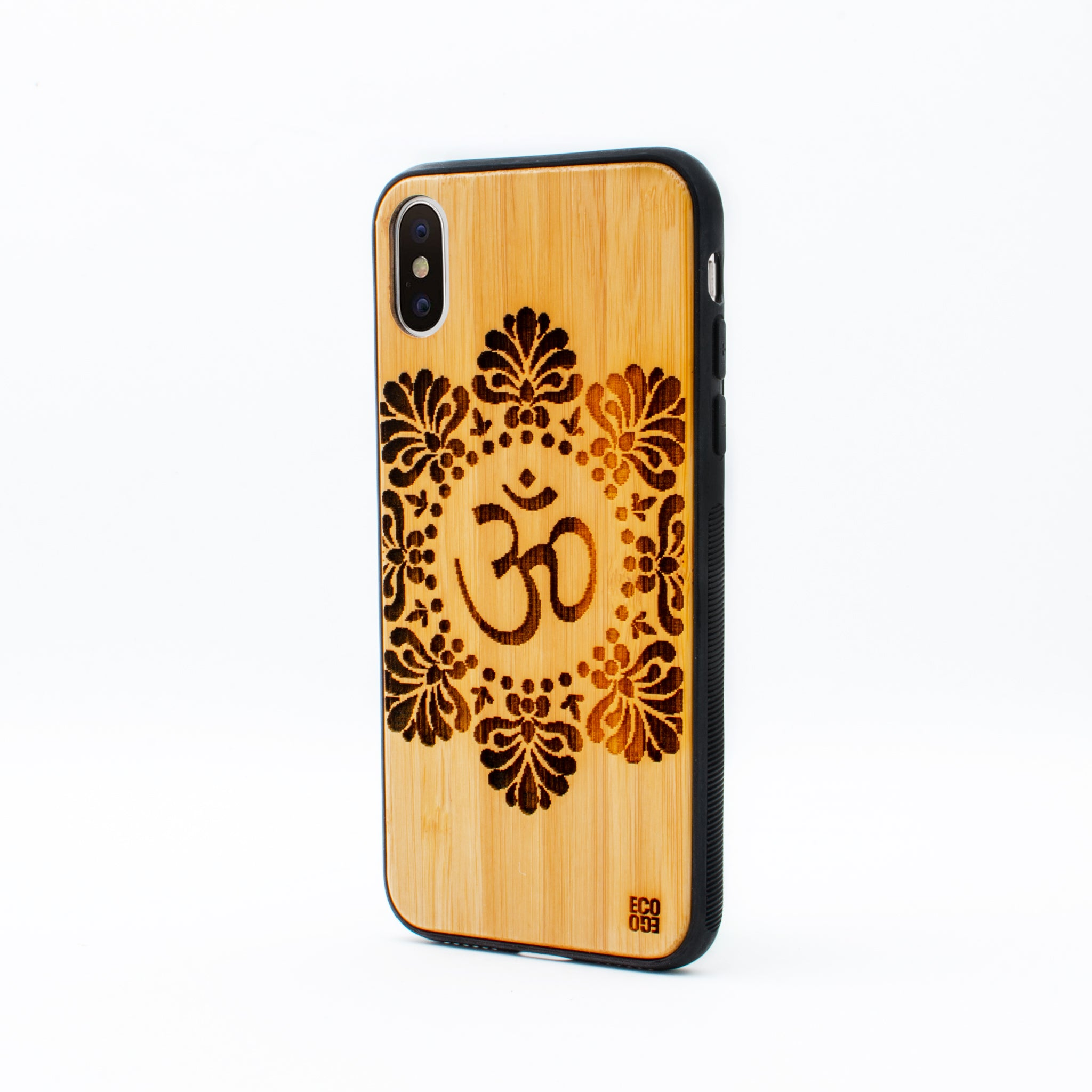 bamboo iphone x case om symbol ecoego