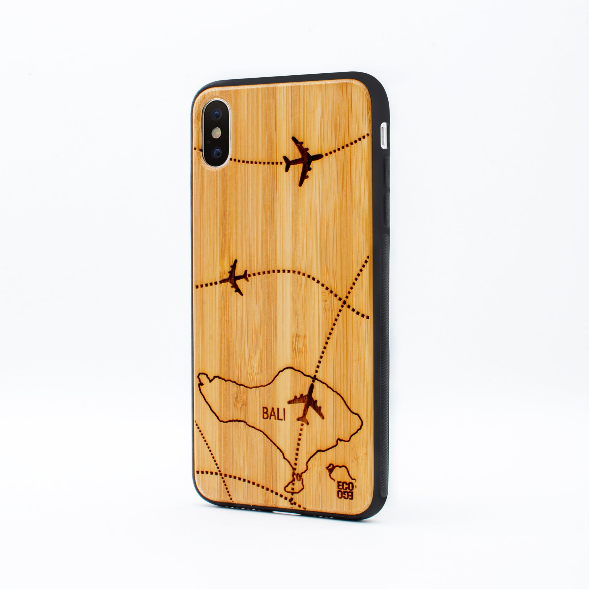 bamboo iphone x max case bali map ecoego