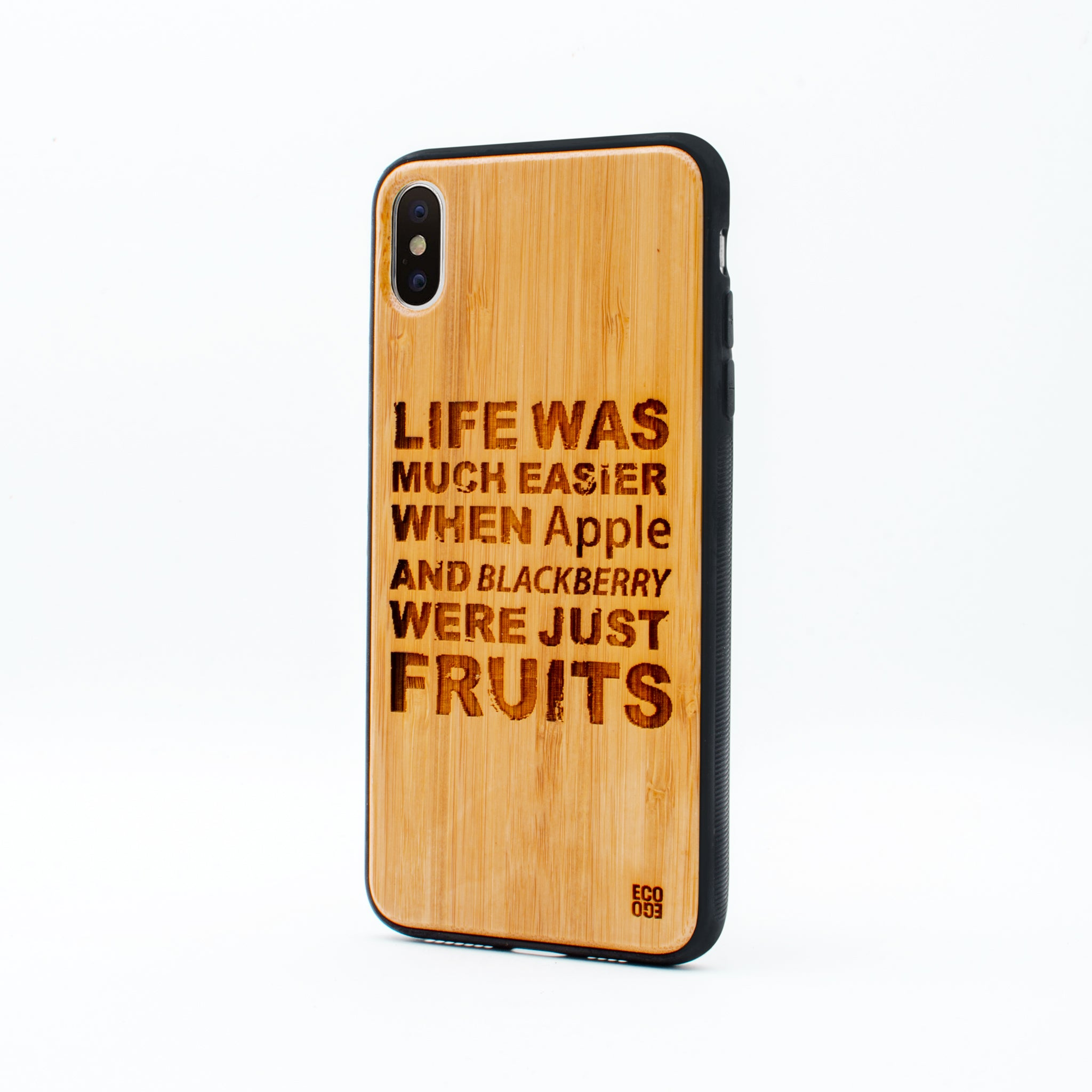 bamboo iphone x max case life was ecoego