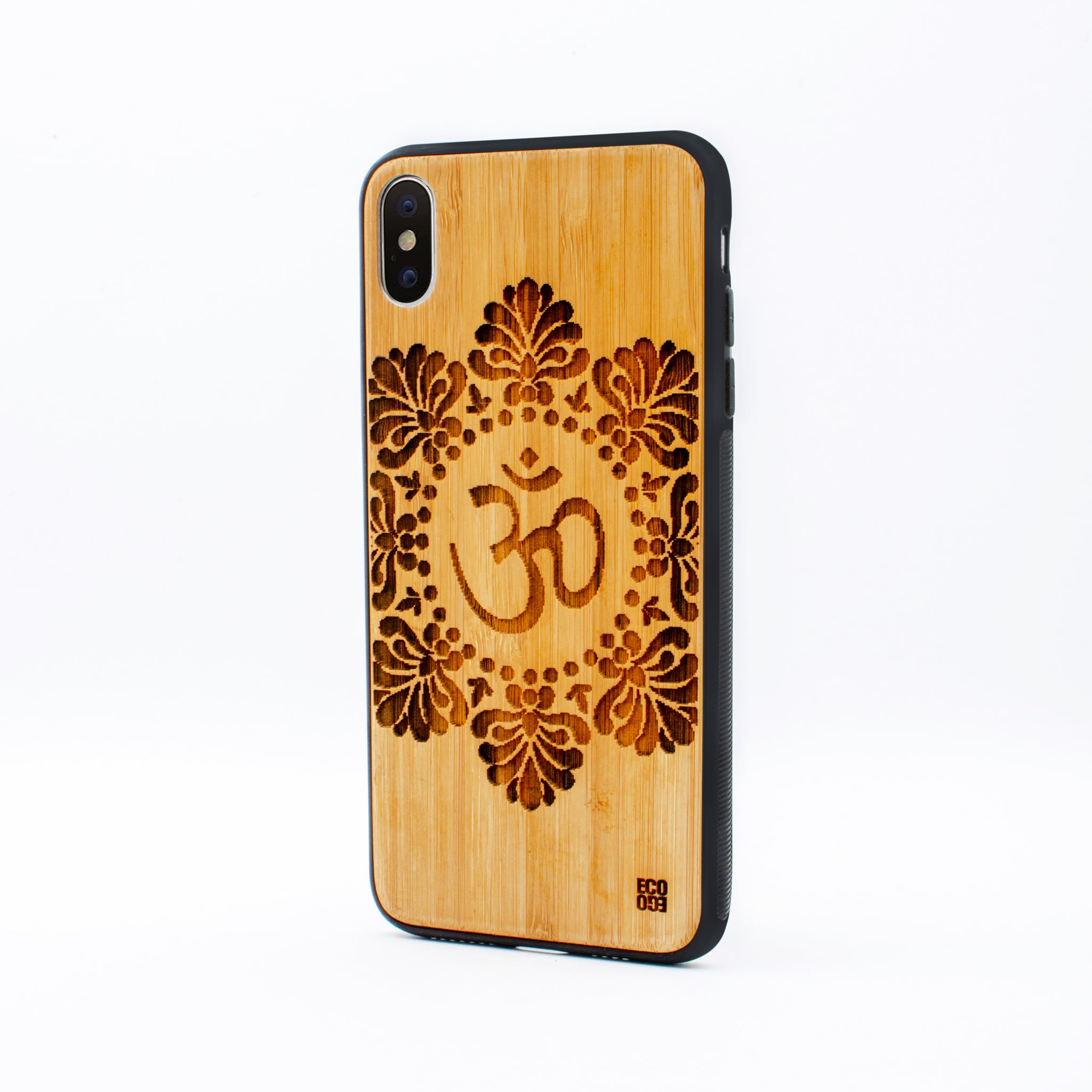 bamboo iphone x max case om symbol ecoego