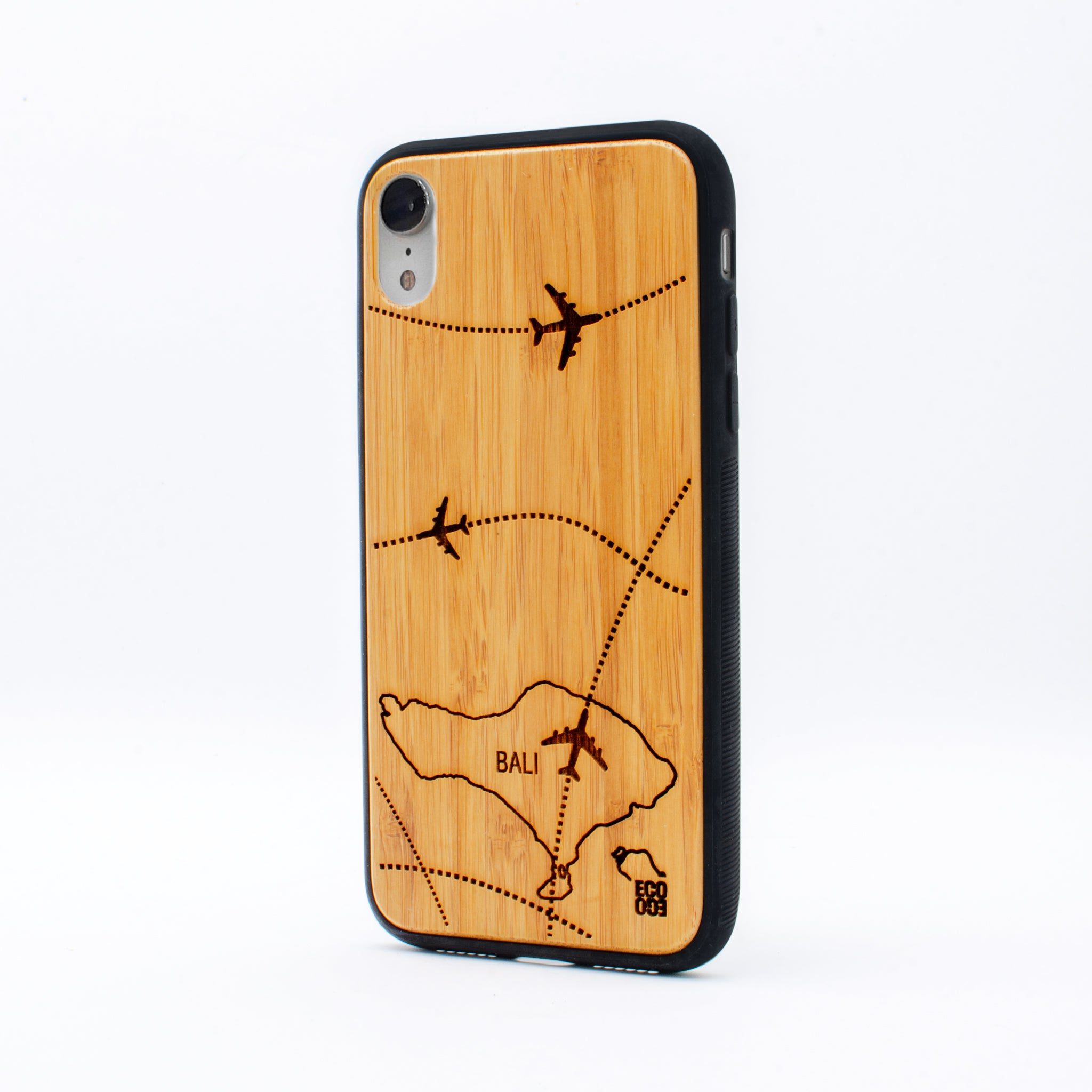 bamboo iphone xr case bali map ecoego