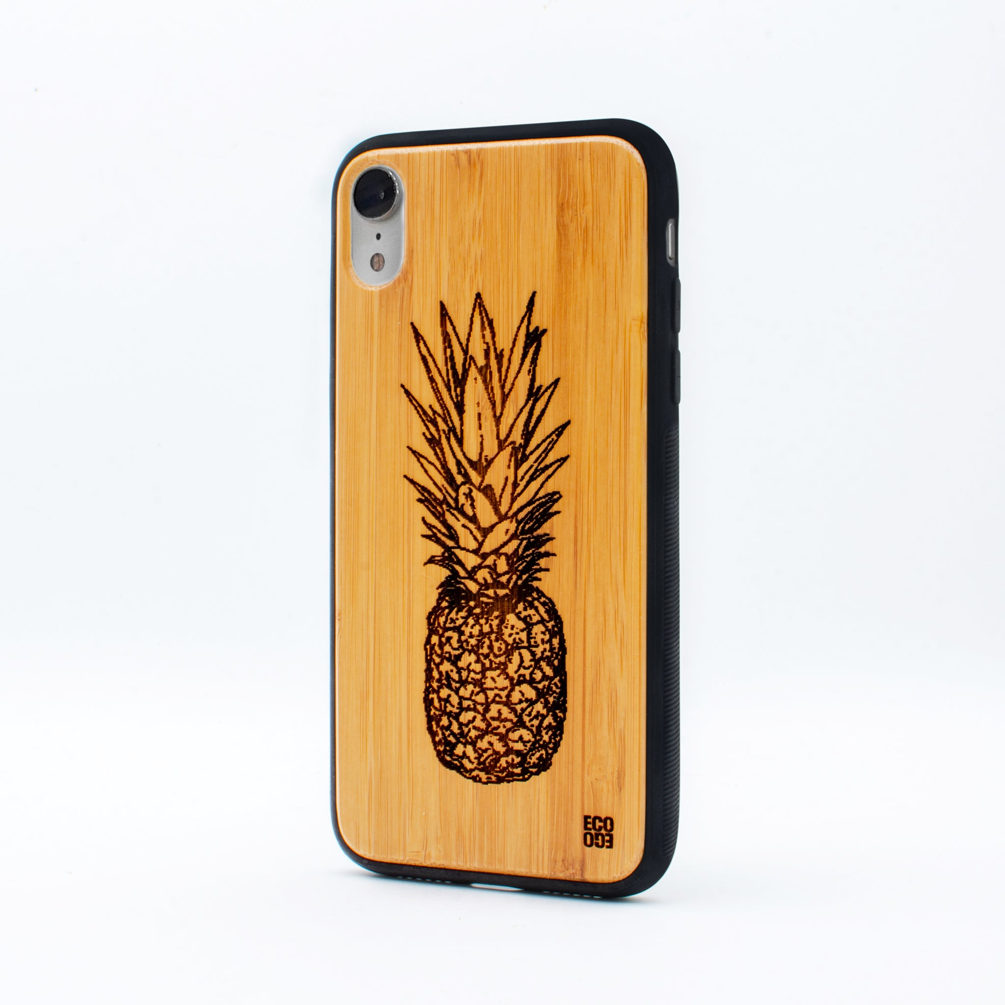 bamboo iphone xr case pineapple ecoego
