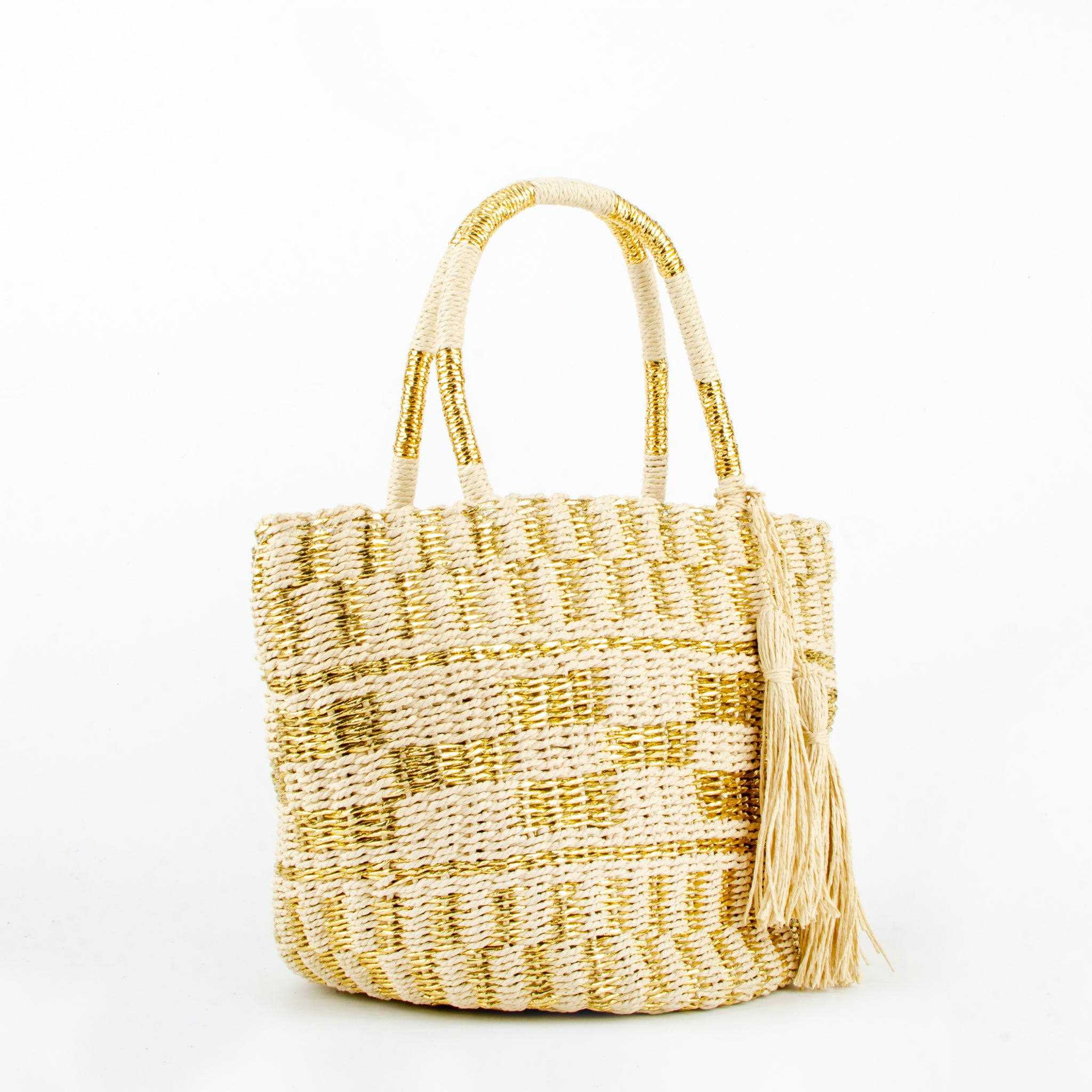 straw bag kaia gold ecoego
