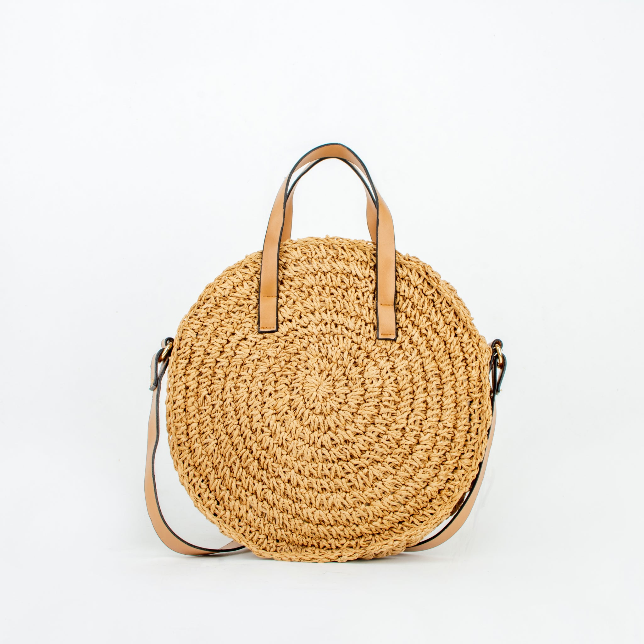 Straw bag naoko brown ecoego