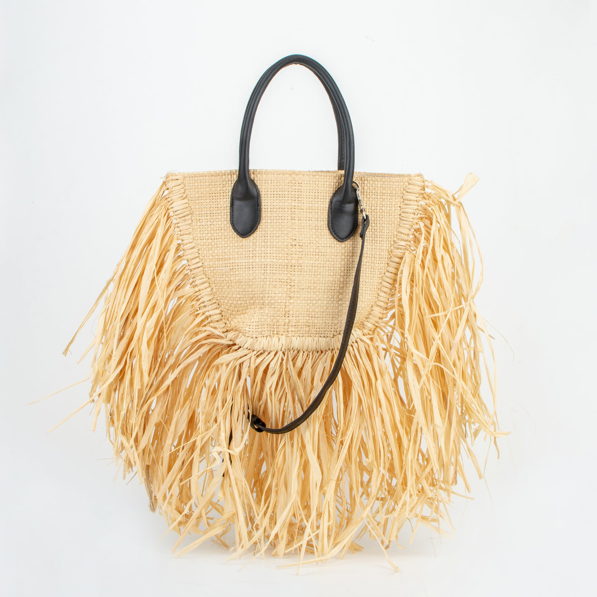 straw bag sachi black ecoego
