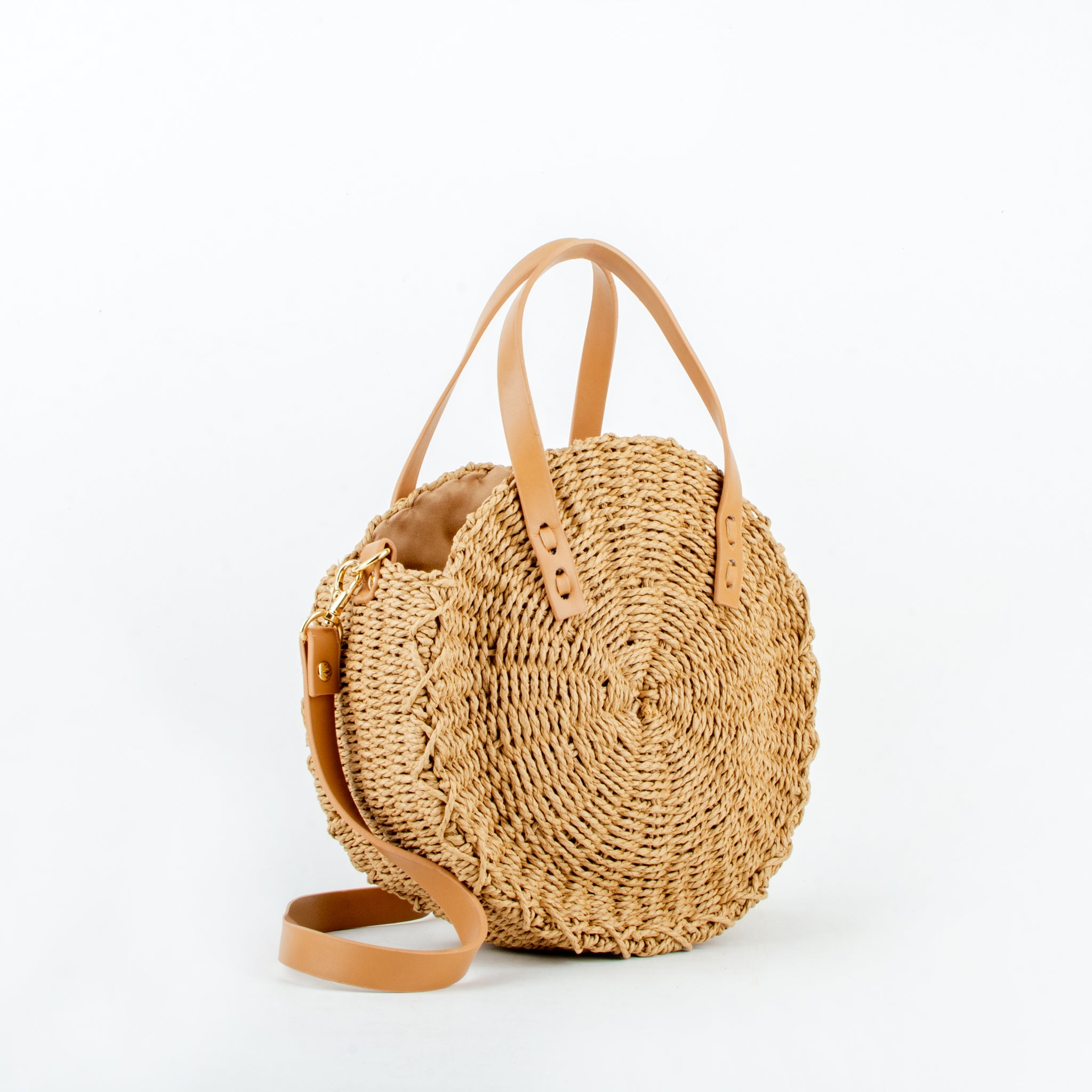Straw bag tami brown ecoego