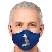 Silver fox on Midnight Blue Face Mask