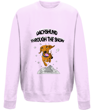 Dachshund through the snow Christmas jumper