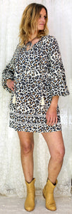 The Grace Dress Brown Leopard