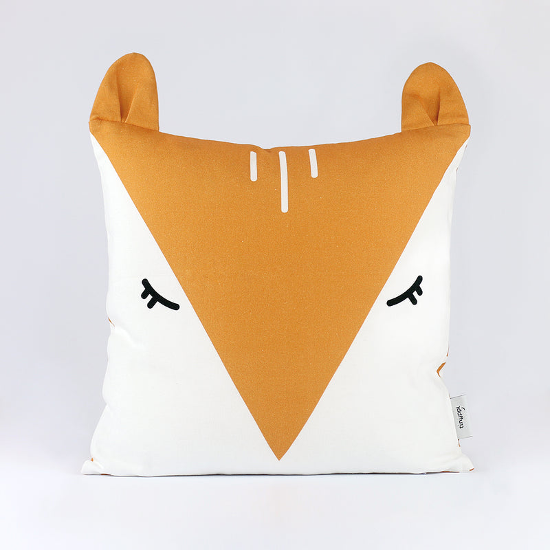 SLEEPY FOX, ORGANIC COTTON CUSHION COVER
