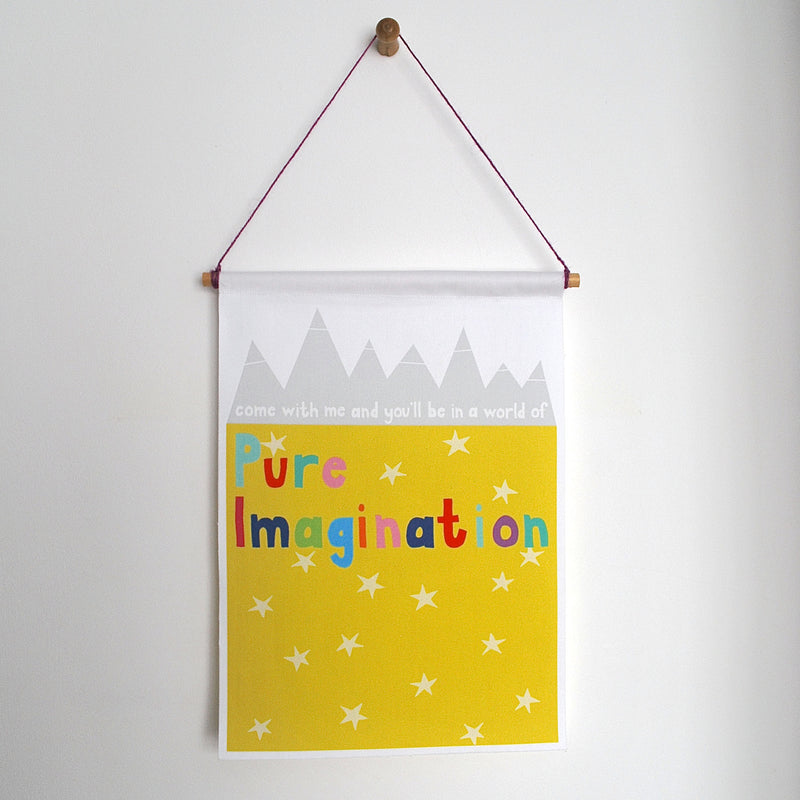 PURE IMAGINATION WALL BANNER