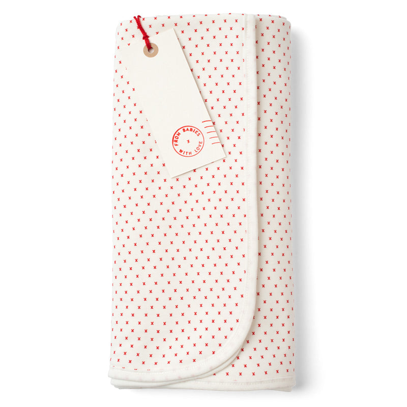 ORGANIC RABBIT REVERSIBLE SWADDLING BABY BLANKET