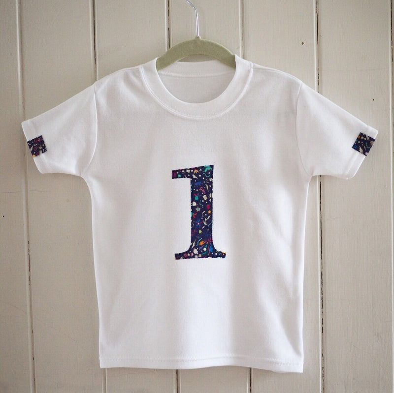 LIBERTY PRINT NUMBER T SHIRT