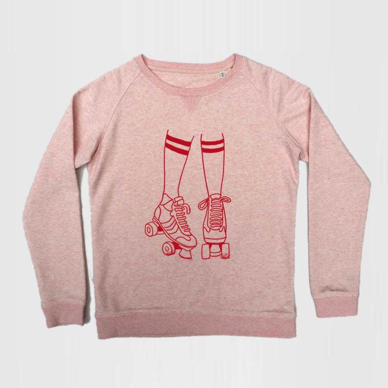 ROLLER DISCO PINK ADULT SWEATSHIRT