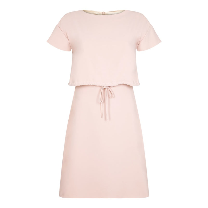 PINK DIANNE DRAWSTRING DRESS