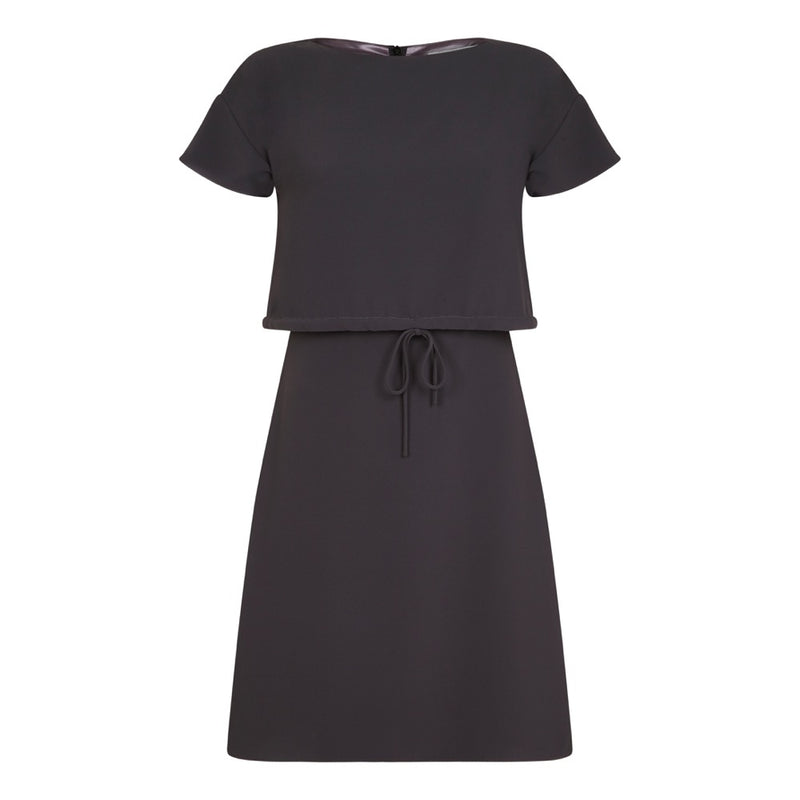 CHARCOAL DIANNE DRAWSTRING DRESS