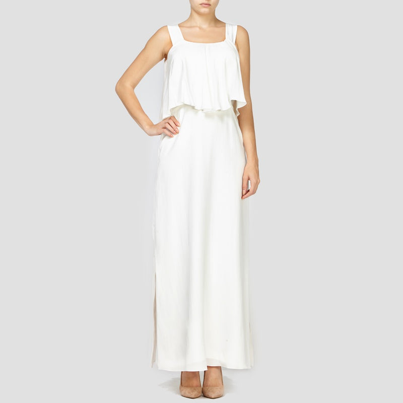 WHITE JOANNA SILK DRESS
