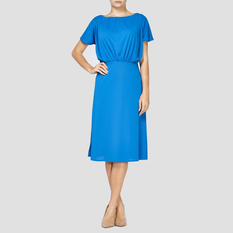BLUE ROSIE SLEEVED DRESS