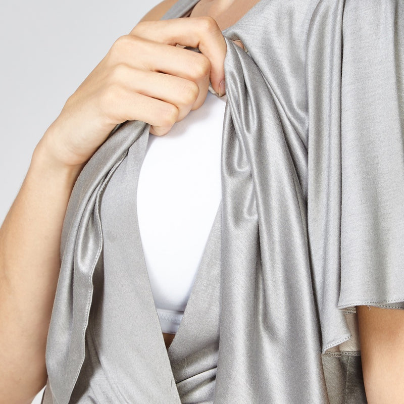 GREY JEMMA ONE SHOULDER DRESS