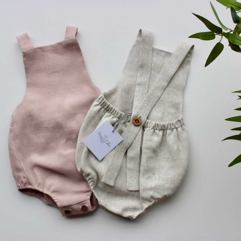 UNISEX LINEN ROMPERS - VARIOUS COLOURS