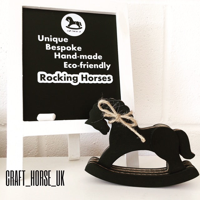 CHALKBOARD SMALL ROCKING HORSE