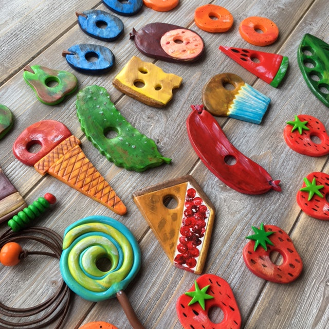 The Hungry Caterpillar 3D polymer clay threading game
