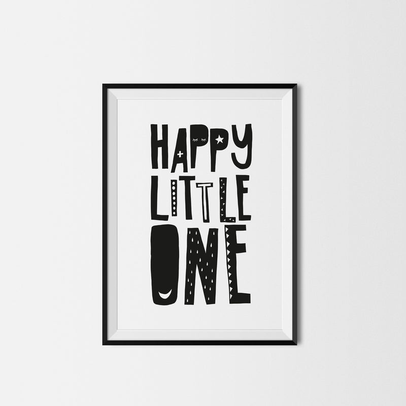 HAPPY LITTLE ONE PRINT