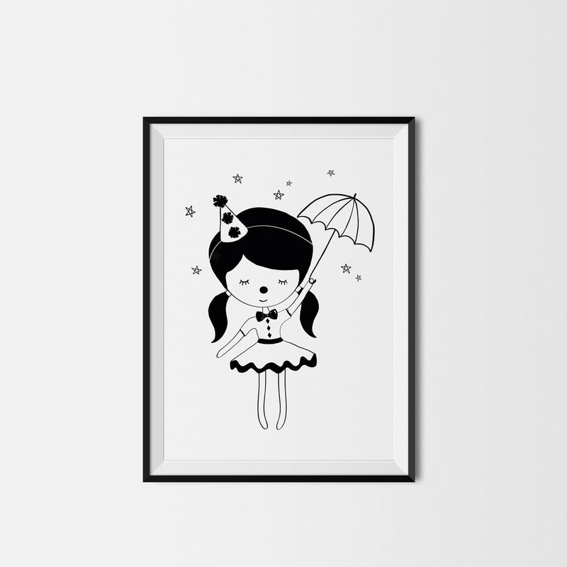 LITTLE CIRCUS GIRL PRINT