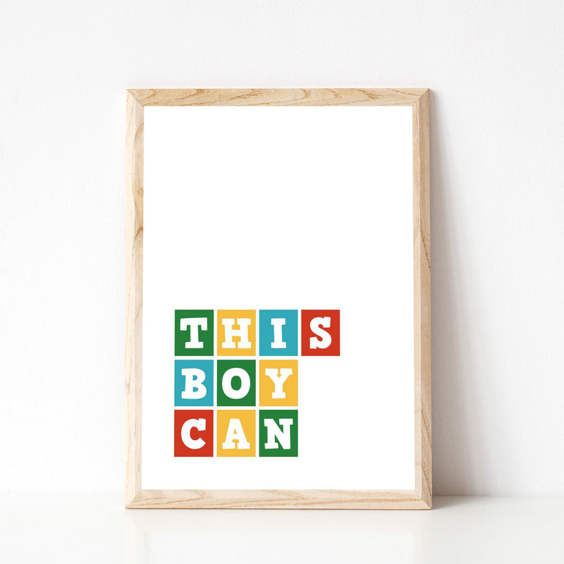 """THIS BOY CAN"" WALL PRINT"